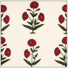 Aleta | Poppy on Cream by Brigitte Singh