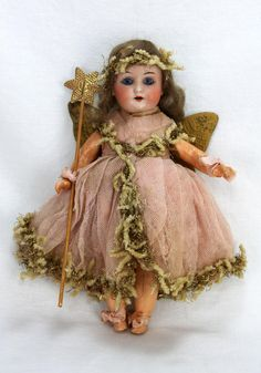 Antique German Bisque Christmas Fairy Doll ca1900