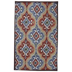 Indoor/Outdoor Primary Ikat Rug (8' x 10') | Overstock.com