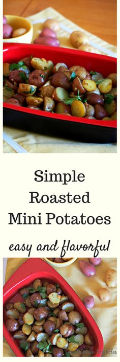 This roasted mini potatoes is an easy dish to prepare but it packs amazing flavor of garlic in a simple, one baking dish entree. Serve it as a side dish or on its own. Either way, this will fill you up with its delicious, tasty flavor. Side Dishes For Bbq, Healthy Side Dishes, Vegetable Side Dishes, Side Dish Recipes, Lunch Recipes, Healthy Recipes, Simple Recipes, Amazing Recipes, Drink Recipes