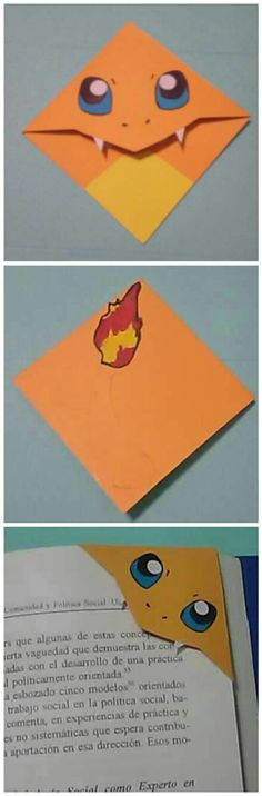 #pokemon  #charmander  Diy Pokemon Corner Bookmarks