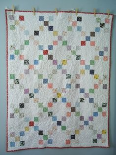 Great way to get into quilt making, using your scraps up with this pretty little design, the Single Irish Chain.