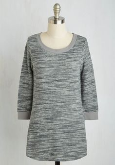 Good Crafternoon! Top in Grey. Welcome your guests to a crafty fete in this ModCloth-exclusive sweater, and theyll know that fun and creative times await! #grey #modcloth