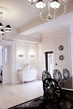 Black White Design By Svetlana Roma Neoclassical Interior