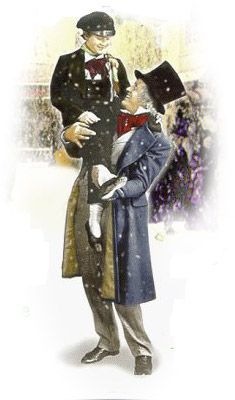 Scrooge was better than his word. He did it all, and infinitely more; and to Tiny Tim, who did not die, he was a second father. Dickens Christmas Carol, Vintage Christmas Cards, Antique Christmas, Christmas Movies, Christmas Art, Christmas Ideas, London Christmas, Christmas Ornaments, Teen Romance