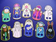 Early Bird Discounted Bulk Buy - 2500 Colour In Nativity Finger Puppets Christmas Crafts by Theme, Nativity Crafts for Kids, childrens cra...