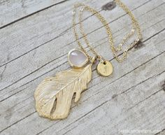 PERFECT+layering+necklace!+It+hangs+in+just+the+right+spot!    Customize+your+necklace+with+either+a+heart+OR+any+initial+stamped+on+the+small+circle+charm.++I+can+darken+the+heart+or+letter+or+leave+it+raw.++I+personally+like+it+raw+or+NOT+darkened,+but+that+is+up+to+you!    Simply+let+me+know+a...