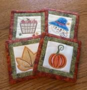 Fall Coasters Embroidery Designs