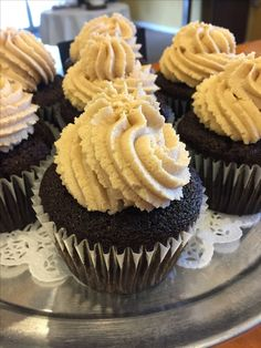 Chocolate cupcake with peanut butter icing