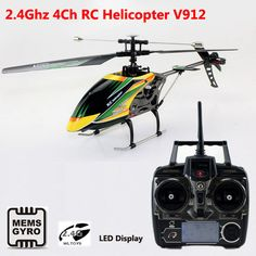 High Quality WLtoys V912 2.4G 4ch RC Helicopter Single Propeller Large 52cm radio control Gyro RTF