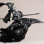 Купить Кот зимы - черный, кот, сноу, ворона, premier, кожа, искусственный мех, шёлк
