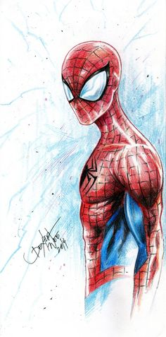 Spider-Man - Colored Pencils Drawing