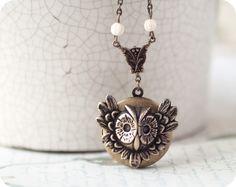 Owl jewelry Owl locket
