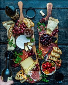 Cheese + fruit + more. Cheese + fruit + more. Charcuterie And Cheese Board, Charcuterie Platter, Antipasto Platter, Cheese Boards, Meat Platter, Crudite Platter Ideas, Cheese Board Display, Tapas Platter, Appetizer Recipes