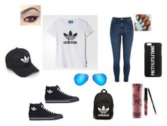 """""""Women"""" by mirela-876 ❤ liked on Polyvore featuring adidas, River Island, adidas Originals, Ray-Ban and Kylie Cosmetics"""
