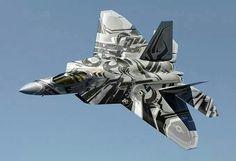 F-22 Raptor. How badass is that paint job!