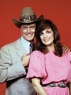 Linda Gray with Larry Hagman