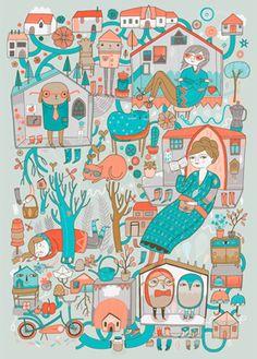 Affiche originale - Illustration - Anke Weckmann - L'Affiche Moderne