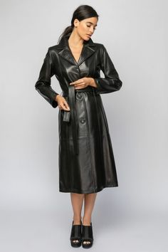 Long Leather Coat, Real Leather, Furs, Jackets, Fashion, Down Jackets, Moda, Fashion Styles, Fur