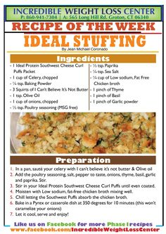 Ideal Protein stuffing