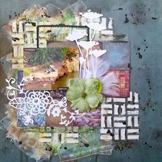 Incredible Memories: #mixedmedia page I just finished