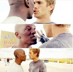 Tyrese Gibson and Paul Walker on '2 Fast 2 Furious'.
