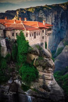 The Sacred Monastery of Varlaam, Meteora: The Monastery of Varlaam was named after its founder, the ascetic monk Varlaam who lived in a cave as a hermit and built a chapel on top of a rock. In the 16th century , two brothers, Theophanis and Nektarios Apsaradas who were both monks, enlarged the chapel and built a monastery.