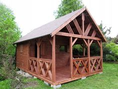 Wooden Summer House, Dom, Porch Decorating, Cabin, House Styles, Home Decor, Balcony Decoration, Decoration Home, Room Decor