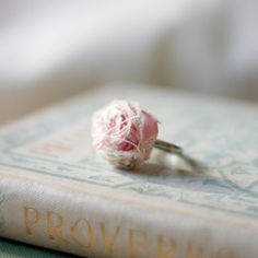 rosette fabric ring rolled rose fabric fabric by StudioBotanica, $10.00