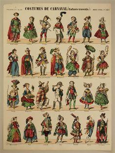 Costumes de Carnaval. (Enfants travestis.) Imagerie d'Épinal. No. 1451.