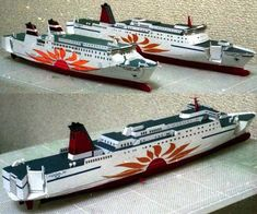 MOL Sunflower Mito Cruise Free Ship Paper Model Download - http://www.papercraftsquare.com/mol-sunflower-mito-cruise-free-ship-paper-model-download.html#Cruise, #Ship, #SunflowerMito