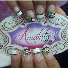 Uñas Fashion, Art Nails, Erika, Amanda, Roses, Tips, Nail Designs, Nail Jewels, Nail Bling