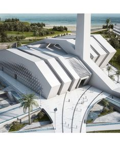 creek harbour designed by Hamed Ben Hamri Architects Tools use The white iconic mosque ? Mosque Architecture, Futuristic Architecture, Architecture Plan, Amazing Architecture, Architecture Details, Architectural Sculpture, Modern Church, Temple Design, Beautiful Mosques