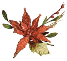 Christmas Flower that we LOVE! Red Poinsettia Pick perfect for #Christmastree, #ChristmasGarland, #ChristmasDecorating