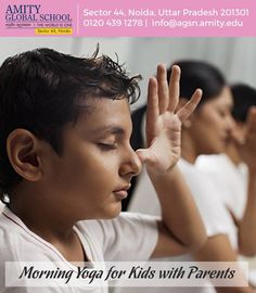 #MorningYoga for #Kids with #Parents:  #Yoga is an ancient Indian art form that has gained a lot of popularity worldwide in the past few decades, and it is known for its many health benefits. Yoga is a form of exercise that combines breathing and movement and heals not only your body but also the mind. Yoga can be practiced by people of any age, and this is the best #fitness routine to teach child..