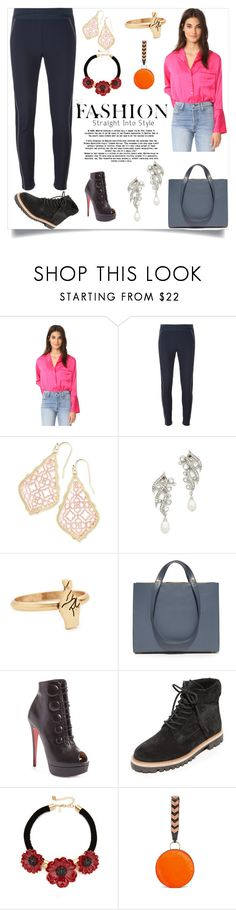 """""""Fashion for fall"""" by denisee-denisee ❤ liked on Polyvore featuring Rachel Antonoff, STELLA McCARTNEY, Kendra Scott, Ben-Amun, Madewell, Haerfest, Christian Louboutin, Vince, Kate Spade and Diane Von Furstenberg"""