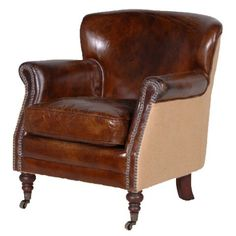 Sweetpea & Willow is an award winning French furniture boutique offering excellent value for French style and shabby chic furniture. Brown Leather Armchair, Brown Armchair, Leather Club Chairs, Leather Armchairs, Brown Furniture, Lounge Furniture, French Furniture, Furniture Ideas, Blue Dining Room Chairs