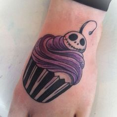 Jack skellington cupcake tattoo by Libby of outsider art