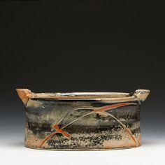 Malcolm Davis Description: porcelain with carbon trapping shino Pottery Plates, Ceramic Pottery, Pottery Art, Pottery Workshop, Pottery Studio, Fire Clay, Incredible Gifts, Contemporary Ceramics, Ceramic Artists