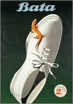 EIDENBENZ – Vintage poster – Poster by Eidenbenz, beautifully printed in stone-lithography. Bata is a shoes manufacturer founded in 1894 in Czechoslovakia.Bata is now a worldwide shoe company.