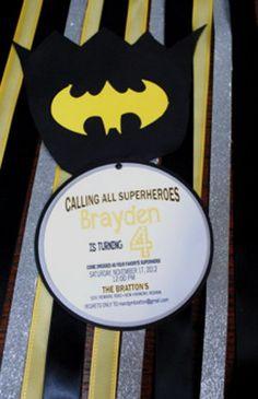 Batman Birthday Party Invitations by blueenvelope on Etsy, $2.75