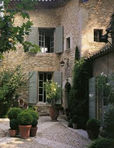 Gorgeous little stone patio, very French. Home Sweet Home: Charm and Charm | ZsaZsa Bellagio - Like No Other