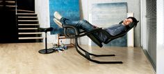 """Gravity balans Chair by-Peter Opsvik. """"The only recliner to offer zero gravity positions from active sitting to relax."""" From Varier Furniture. Cool Furniture, Furniture Design, Office Furniture, Muebles Art Deco, Barcelona Chair, Cool Gadgets, Rocking Chair, Chair Design, House Design"""