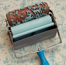A print roller for fabric.  I haven't used anything like this but it looks interesting.