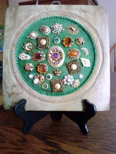 vintage jewelry collage