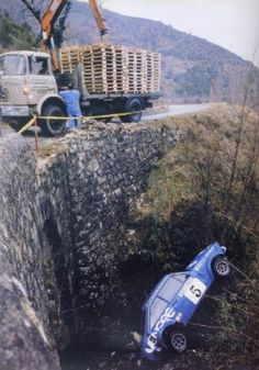 Vatanen crash with Publimmo Escort, Montecarlo 1980