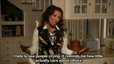 """When Renee had no time for other peoples emotions. 31 Of The Funniest Moments To Ever Happen On """"Desperate Housewives"""" Tv Show Quotes, Movie Quotes, Funny Quotes, Movies And Series, Movies And Tv Shows, Tv Series, Desperate Housewives Quotes, Housewife Humor, Michael Scott Quotes"""
