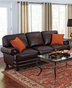 Charmant Brett Leather Sofa Living Room Furniture Collection   Furniture   Macyu0027s