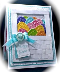 Easter, Creative Expressions, Petite Lavish Sentiments, Clear stamp, Dry Embossing, Layering, Weaving, Craft Dies by Sue Wilson, Frames & Tags Collection, Hannah, Pierced Tags , Striped and Classic Weaving Dies, CE Beaded Fanfare Embossing Folder, America, Card, Eggs, Spring, Colors, www.cardsbyamerica.blogspot.com/