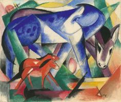 The First Animals 1913. Franz Marc (1880-1916) at the Neue Gallerie